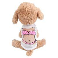 Transer Dog Clothes Dogs Shirt Pet Puppy Small Cat Bikini Printing Apparel Vest 3.30
