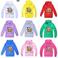 Cocomelon طفل الفتيان Sweatershirt ربيع الخريف الأطفال مقنعين هوديس الأولاد 'والفتيات الأزياء سترة أعلى عارضة الملابس الرياضية G4988TI