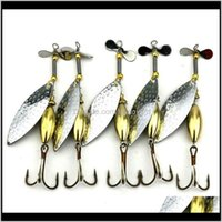 Sports & Outdoors Drop Delivery 2021 Lot 5 Sinking Spinner Spoon Bait Fishing Lure Artificial Hard For Trout Bass Pike Tackle Equipment 15G 9
