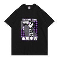 Sıcak Yeni Anime Danganronpa V3 Killing Harmony OMA Kokichi Harajuku Baskı Tshirt Moda Rahat T-shirt Casual erkek Tee