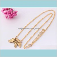 Pendant Necklaces Pendants Jewelry Pretty Engraved Animal Mothers Day Gift For Mom Fashion Women Jewlery Plated Sier Gold Chain Neckla