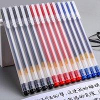 12pcs / set test gel stift 0.5mm ins ins Ins schwarz / blau / rote Tinte neutral Set Pensionen für Schulbüro Briefpapierbedarf