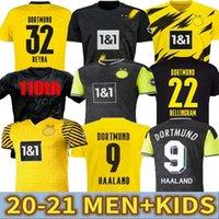 Dortmund Haaland Reus 20 21 Jersey 2020 2021 Bellingham Sancho Hummels Brandt Futebol Tracksuit Men + Kit Kit de Futebol Jersey Quarta Camisa