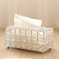 Европейская Кристаллическая ткань коробка простая домашняя гостиная журнальный столик ящики настольные салфетки ящик для хранения салфетки креативные автомобильные коробки ткани 1421 v2