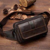 Bolsa de cintura masculina masculino masculino masculino de couro masculino masculino bolsa de quadril bolsa de telefone homem bolsa de ombro para homens viagem de cintura de viagem