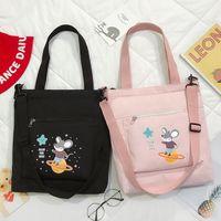 Small Fresh Literature and Art Dual-purpose Canvas Women's Large Capacity Class Portable Shoulder Bag