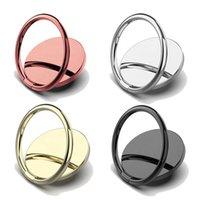 Luxury Metal Mobile Phone Socket Holder Universal 360 Degree Rotation Finger Ring Magnetic Car Bracket Stand Accessories