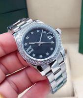 Montre-bracelet mécanique automatique pour femmes 31mm 2813 Mouvement 316 acier haute résistance aux rayures Mirror Sports Sports Diamond Bague Best-Selling Grossiste