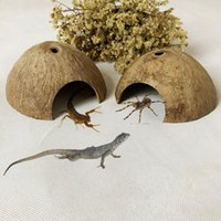 Bird Cages Small Reptile Coconut Shell Shelter House Pet Climbing Hut Habitat Hiding Cave Nest Play Shop Supplies