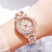 Designer Luxury marca relógios top strass mulheres diamante senhoras pulso rosa ouro calendário vestido relógio para feminino elegante presente m