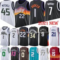 Devin 1 Booker Deandre 22 Ayton Atlanta Basketball Jersey Lamelo 2Ball Jokic Antetokounmpo Barrett Morant Leonard Lillard Jovens Doncic Mitchell Curry Jerseys