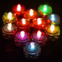 12Pcs Waterproof LED Candle Tea Lights Floating Flickering lamp Light Flameless Candles For Home Bathtub Wedding Party Decors H0909