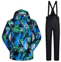 Skiing Jackets Men's Ski Jacket And Pants Set Snowsuits Snowboarding Suits Insulated Waterproof
