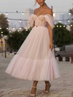 Off The Shoulder Evening Dresses 2021Puff Sleeves Appliques Long Prom Dress Even Light Sky Blue Party Gowns Lavender Prom Dresses