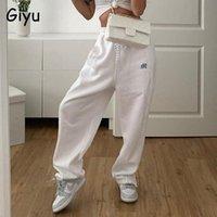 Giyu casual calças mulheres soltas corredores bolsos de verão calças de cintura alta zíper cambial caneleiras rua streetwear roupa feminina capris