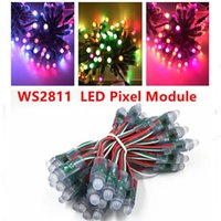 50leds lot 5V 12mm WS2811 2811 IC Full Color LED Module Light Input IP68 Waterproof RGB Digital Pixel String Modules