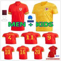 2021 ويلز لكرة القدم الفانيلة المنتخب الوطني الصفحة الرئيسية بعيدا Bale James Ramsey Men Kids Mailleot de Football Shirts Allen Vokes Morrell Wilson B.Davies Camiseta Futol Offe