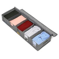 Non-woven Fabric Bed Bottom Storage Bag Bins Wardrobe Clothes Dustproof Moisture Proof Finishing Folding Quilt Bags BWF9034