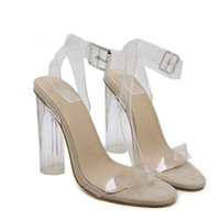 Sandals Design PVC Jelly Crystal Open Toed High Heels Women Transparent Heel Slippers Pumps 11CM Big Size 42 43