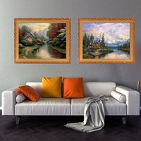 Decoration of porch in modern light luxury hotel Oil Painting