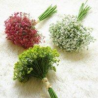 Babysbreath fleur artificiel faux gypsophila bricolage floral bouquets arrangement de mariage fleurs décoratifs maison jardin fête de jardin owd10083