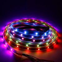 Striscia LED DC12V SMD RGB flessibile Addreable Digital 30LEDS / M Pixel luci nastro esterna IC esterno 5m / rotolo W / B strisce