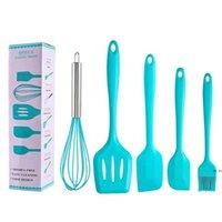 سيليكون أدوات المطبخ مجموعة أدوات كعكة 5 قطعة / المجموعة البيض الخافق فرشاة الشواء مكشطة تسرب ملعقة diy الخبز أداة 5 ألوان HWB6030