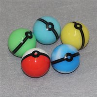 Smoking Accessories Food Grade Silicone Ball Container Jar for Dab Oil Dry herb Wax Box glass bongs