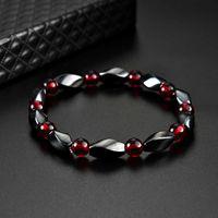 Fashion Red Agates Hematite Bracelets Men Positive Energy Charm Women Natural Stone Lucky Bracelet Jewelry