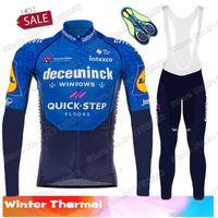 레이싱 세트 2021 사이클링 저지 겨울 세트 빠른 단계 남자 Maillot 의류 도로 자전거 정장 자전거 열 양털 탑스 Ropa Ciclismo