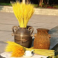 Real Wheat Ear Flower Decoration Natural Pampas Tail Grass Dried Flowers For Wedding Party DIY Craft Scrapbook Bouquet Decorative & W Wreath