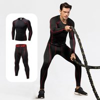 Gym Clothing Quick Dry Sport Tight Running Training Suit Fitness Jersey Long Sleeve Undrewear Set Workout Soccer Basketball Sportswear