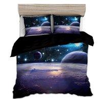 Ensembles de literie Star Star 3D Galaxy Duvet Cover Set Simple Double Twin / Queen 2PCS / 3PCS Universe Linge de lit à thème extérieure