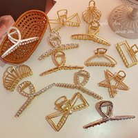 Hair Clips & Barrettes Fashion Woman Elegant Geometric Pearl Hairpins Alloy Girls Accessories Headwear Jewelry
