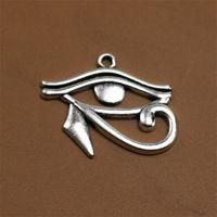 100pcs alliage Rah Egypt Œil d'Horus Egyptiens Antique Bronze Charms Pendentif pour Collier Bijoux Faire des résultats 27x33mm 1606 V2