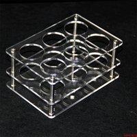 아크릴 디스플레이 명확한 스탠드 선반 홀더베이스 vape 랙 상자 쇼 케이스 6pcs 60ml 병 eliquid ejuice 전자 주스 병 dhlvape