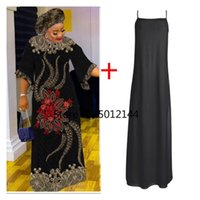 Ethnic Clothing White African Dresses For Women 2021 Summer Long Maxi Dress Clothes Dashiki Hollow Out Robe Africaine Femme With Scarf