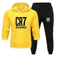 CR7 Impressão Mens Sets Drop Shipping Hoodies + Calças Harajuku Atacado Sport Ternos Casual Sweatshirts Sportswear