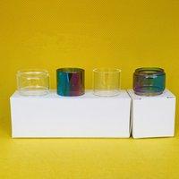 Tubo de vidro de lâmpada normal para Fueaf Melo 3 4 ml tanque saco claro arco-íris clássico tubos de substituição convexo com 1 pc 3 pcs 10pcs caixa de varejo
