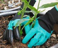 Wasserdichte Gartenhandschuhe mit Krallen für Frauen und Männer Gartenbedarf im Freien Gräben Pflanzung Wordssamen Verdickte Schutzarbeit6002