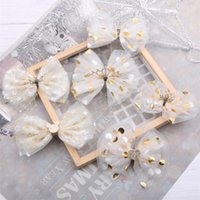 10pcs Lot High Quatity Barrette Bow Sweet Crown Dot Yarn Chi...
