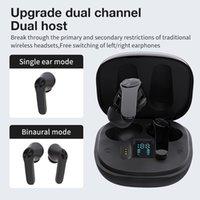 Commercio all'ingrosso XT18 TWS Bluetooth Auricolare con microfono BASS Audio Posizionamento audio wireless 5.0 Auricolare di controllo touch intelligente Auricolare per iPhone 11 12 13 Samsung S10 S20