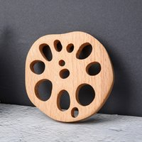 Japanese-Style Creative Lotus Root Tea Pad Wooden Beech Mats Home Decoration Cup And Bowl Pads Coaster