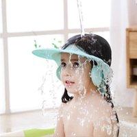 Baby Shower Cap Shampoo Wide Brim Shield Portable For Kids Bathroom Ear Protection Home Children Washing Hair Adjustable Travel Caps
