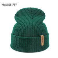Beanies Dad Cap Crochet Autumn Winter Women Men Unisex Knitted Skuilles Caps Hats Solid Green Black White Balaclava Hat