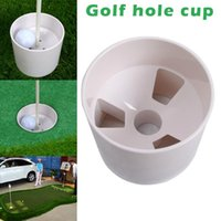 Golf Training Aids Plastic Hole Cup Putting Putter Flag Stick Yard Garden Backyard Practice White