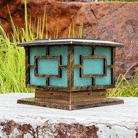 Outdoor Wall Lamps Column Lamp Head Fashion Post Pole Light Garden Patio Driveway Yard Lantern Fixture Black Decor Accessories
