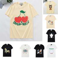 Femmes Mens Designers T shirts T-shirts Lettre de la mode Impression de chat à manches courtes Lady tees Casual Vêtements 21SS T-shirts Vêtements 2021