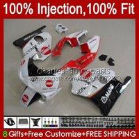 Carénings d'injection pour Honda CBR250RR 1990 1991 1994 1995 1997 1997 1998 1999 111HC.103 MC22 CBR250 CBR 250RR 25R CC 250CC 90 91 92 93 94 95 96 97 98 99 Corps blanc brillant