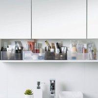 Storage Boxes & Bins Mirror Cabinet Box Cosmetics Jewelry Lipstick Skin Care Product Finishing Makeup Brush